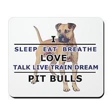 Eat, Sleep, Breathe - UNCROPP Mousepad