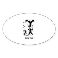 Joanne: Fancy Monogram Oval Decal