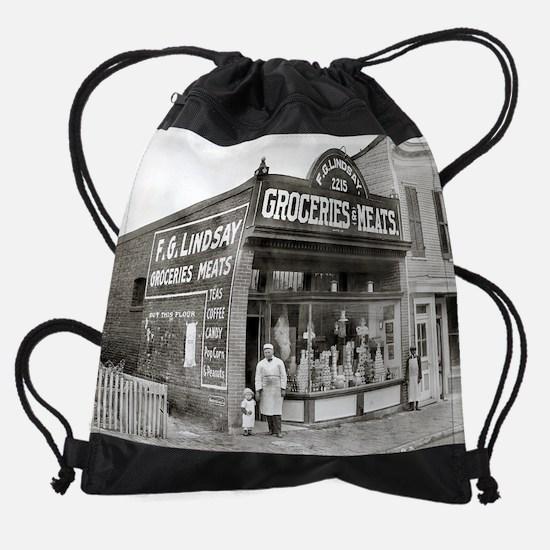 Grocery & Meat Market, 1916 Drawstring Bag