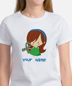 Personalized Autism Girl Tee