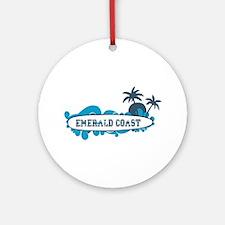 Emerald Coast - Surf Design. Ornament (Round)