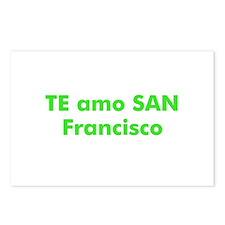 TE amo SAN Francisco Postcards (Package of 8)