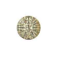 Xiuhtecuhtli Aztec Death God Mini Button
