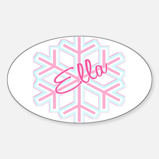 Ella Snowflake Personalized Oval Decal