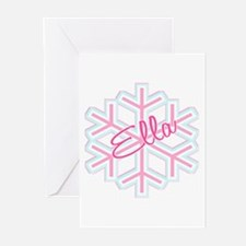 Ella Snowflake Personalized Greeting Cards (Packag