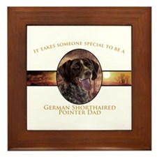Pointer Dad Framed Tile