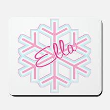 Ella Snowflake Personalized Mousepad