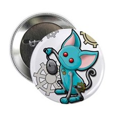 "Cat and mouse 2.25"" Button"