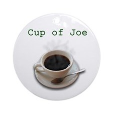 Cup of Joe Ornament (Round)