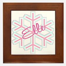 Elle Snowflake Personalized Framed Tile