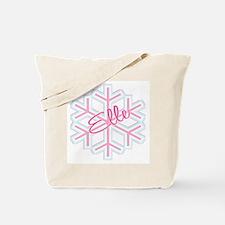 Elle Snowflake Personalized Tote Bag
