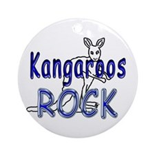 Kangaroos Rock Ornament (Round)