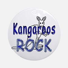 Kangaroos Rock Ornament (Round)