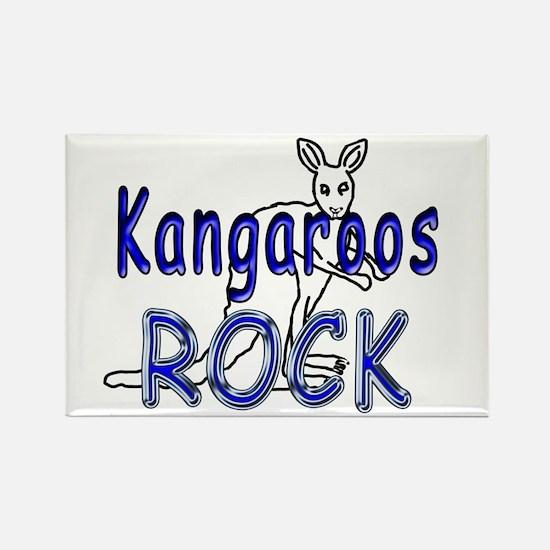Kangaroos Rock Rectangle Magnet