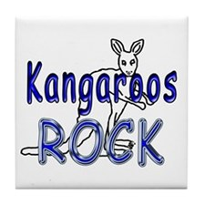 Kangaroos Rock Tile Coaster