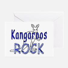 Kangaroos Rock Greeting Cards (Pk of 10)