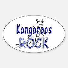 Kangaroos Rock Oval Stickers