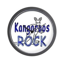 Kangaroos Rock Wall Clock