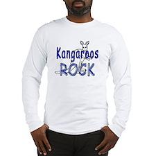 Kangaroos Rock Long Sleeve T-Shirt