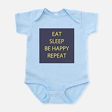 Life Motto Eat Sleep Be Happy Repeat Body Suit