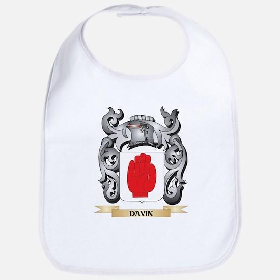 Davin Coat of Arms - Family Crest Baby Bib