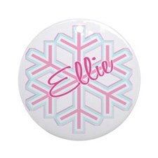 Ellie Snowflake Personalized Ornament (Round)