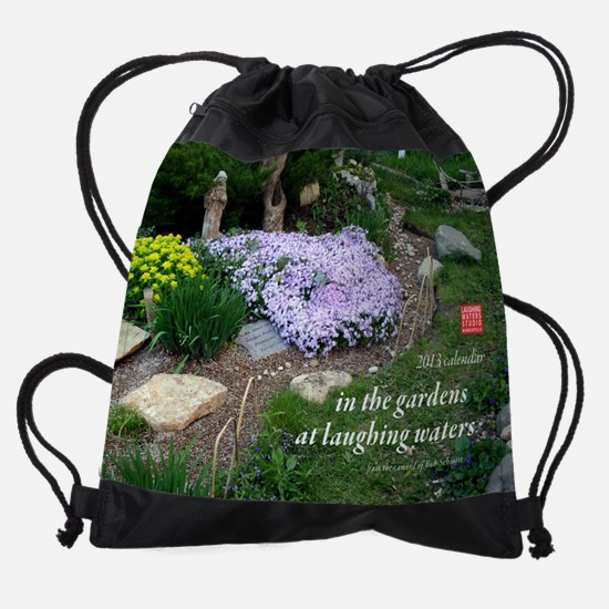 in the gardens at Laughing Waters Drawstring Bag