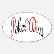 Poker Diva Oval Decal
