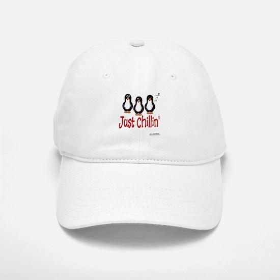 Penguins Chillin' Baseball Baseball Cap
