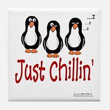 Penguins Chillin' Tile Coaster