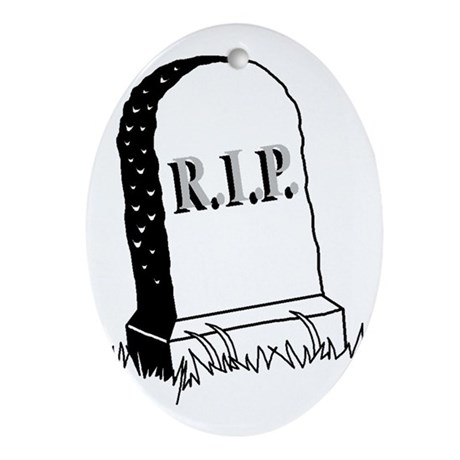 Rest in Peace ( R.I.P. ) Oval Ornament