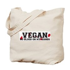 Vegan No Blood Tote Bag