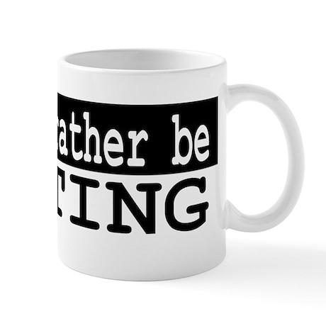 B&W I would rather be WRITING Mug