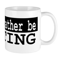 B&W I would rather be WRITING Mug