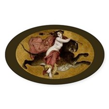 Bacchante on a Panther Greek Mythology Decal