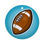 Football 2 Ornament (Round)
