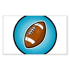 Football 2 Rectangle Decal