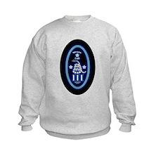 Molon Labe - Vertical Blue Sweatshirt