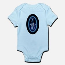 Molon Labe - Vertical Blue Infant Bodysuit