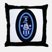 Molon Labe - Vertical Blue Throw Pillow