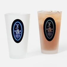 Molon Labe - Vertical Blue Drinking Glass