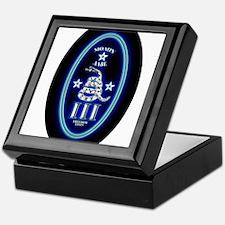 Molon Labe - Vertical Blue Keepsake Box