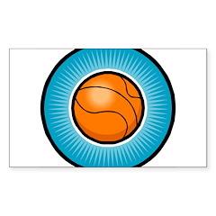 Basketball 2 Rectangle Decal