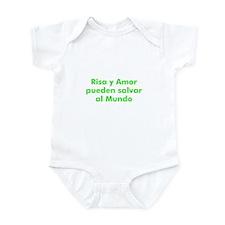 Risa y Amor pueden salvar al  Infant Bodysuit