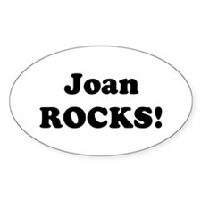 Joan Rocks! Oval Decal