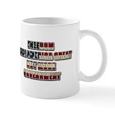 Freedom Not Government CF Oval Mug