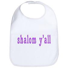 Shalom Y'all Greeting Bib