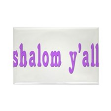 Shalom Y'all Greeting Rectangle Magnet