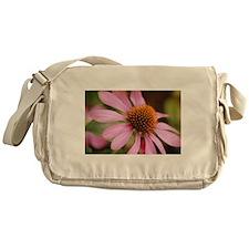 Purple Coneflower Messenger Bag