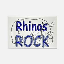 Rhinos Rock Rectangle Magnet